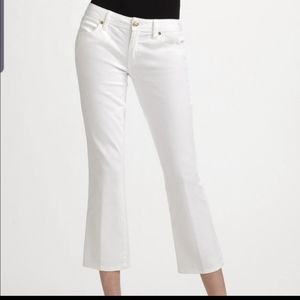 Tory Burch  white cropped midrise jeans size 26